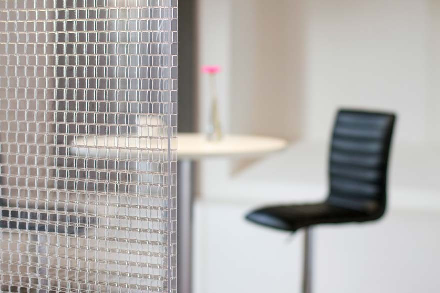 Transparente Trennwände Büro | Stellwände