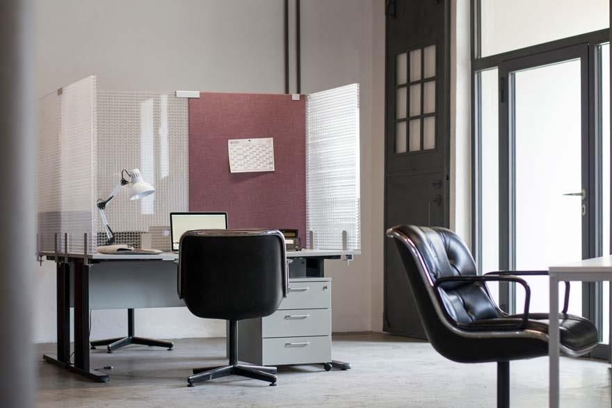 transparente tischabtrennung schreibtisch trennwand b ro schallschutz. Black Bedroom Furniture Sets. Home Design Ideas