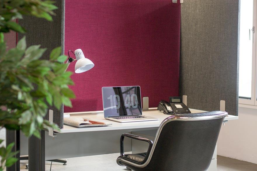 Tischabtrennung | Akustiktrennwand | Schreibtisch Trennwand ...